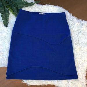 Sally Miller medium elastic waist royal blue skirt